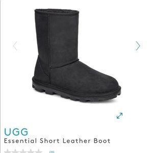 UGG essential black leather boot BRAND NEW